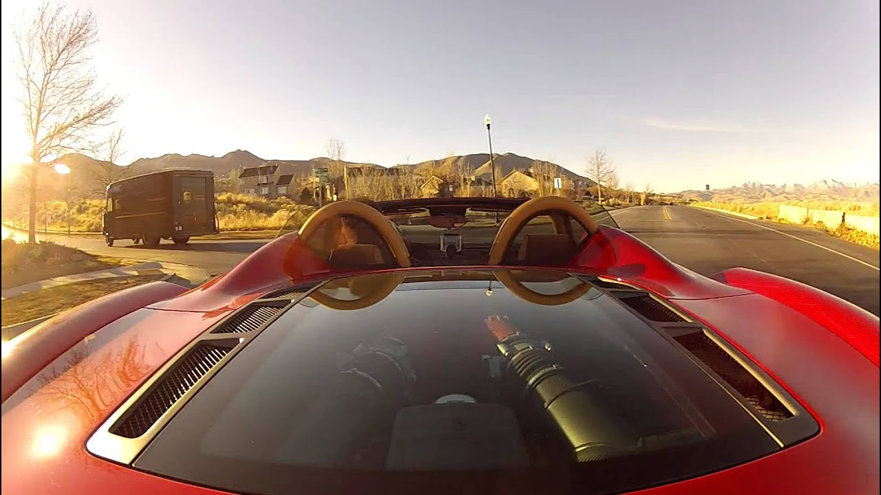 Ferrari 430 Spider Drive With Gopro Hero 2 Cameras