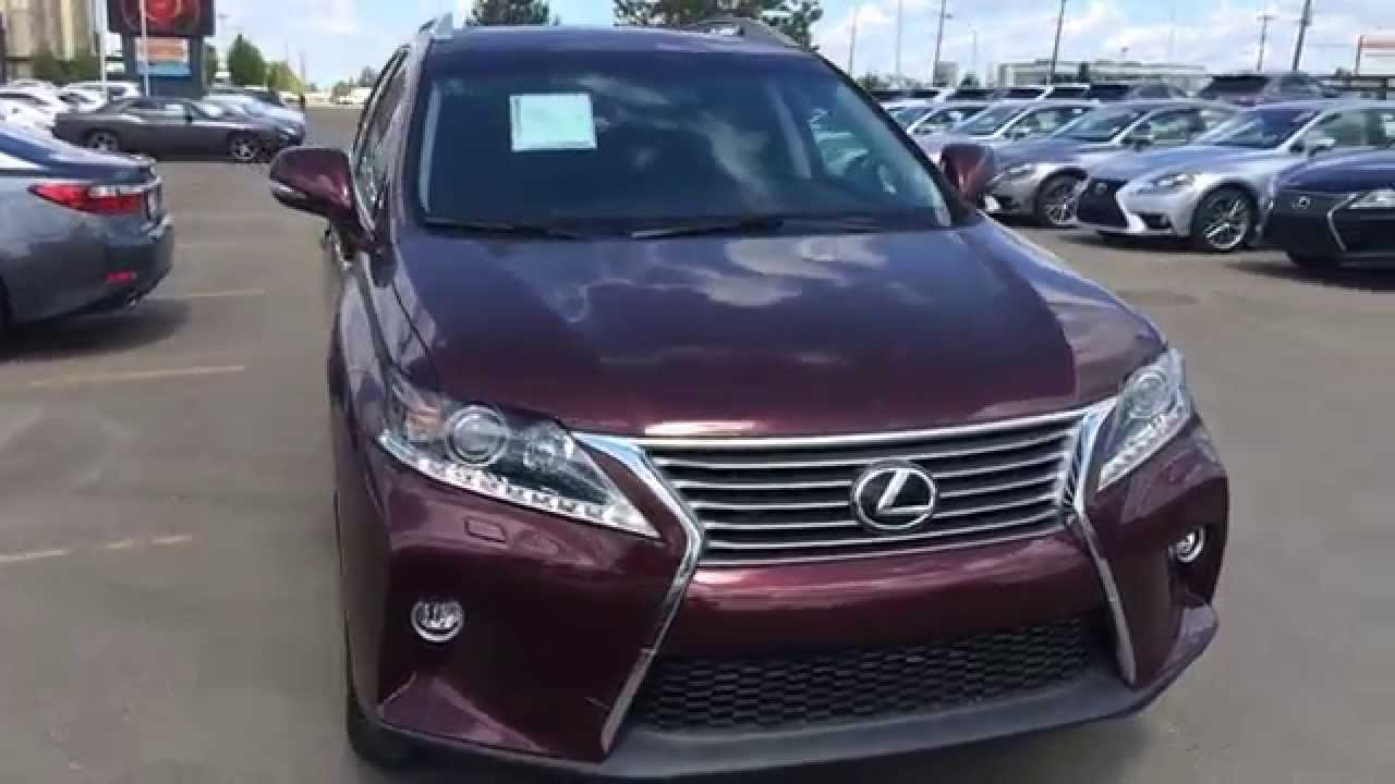 2015 lexus rx 350 awd sportdesign edition review red claret mica on