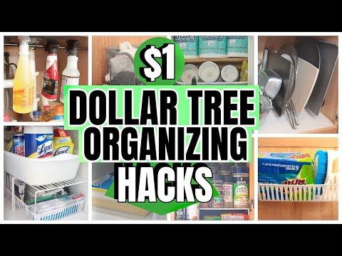 $1 ORGANIZATION HACKS AND IDEAS│DOLLAR TREE ORGANIZING