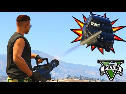 GTA V Online: CARRO BLINDADO vs MINI GUN - O KILL BOMBA!!!