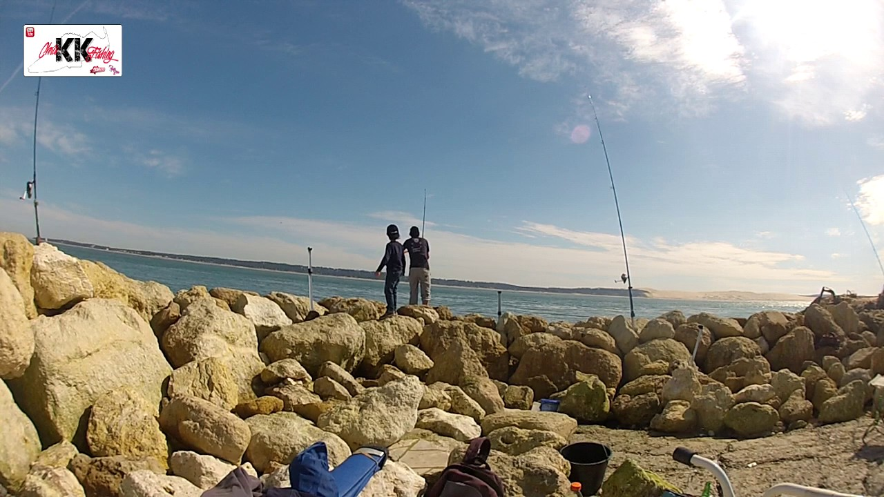 Surfcasting p che de la dorade sur digue youtube for Garage de la digue