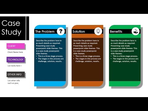 Case Study Design 1 | Animated PowerPoint Slide Design Tutorial For Busy Professionals