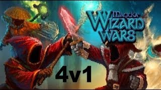 Magicka Wizard Wars: 4v1 Battle