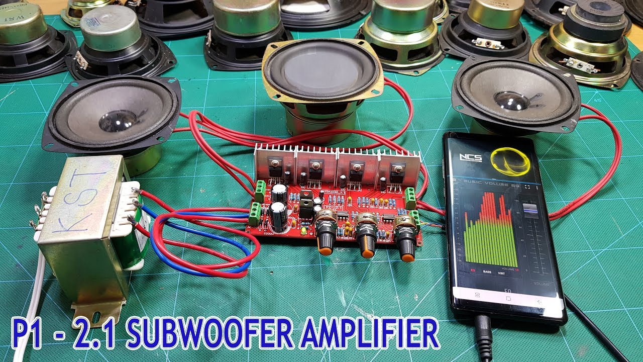 how to make subwoofer speaker at home p1 assembling amplifier board youtube [ 1280 x 720 Pixel ]