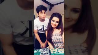 Avneet and siddharnt beautiful and funny tik tik video'hey girl you like me a liitle bit""
