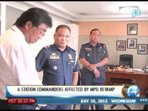 NewsLife: 6 station commanders affected by Manila Police District's revamp