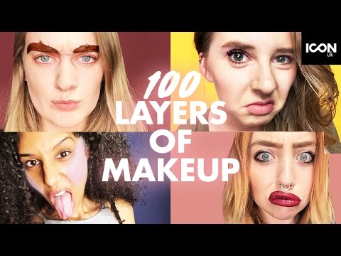 100 LAYERS OF EVERYTHING?  ICON UK  Eyebrows Liquid Lipstick Highlighter Mascara