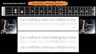 Bass - Expresikan - Bondan Prakoso ( Tab Bass Cover )