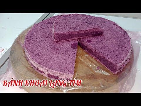 cách làm bánh khoai lang tím hấp
