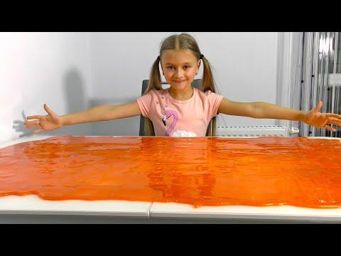 3 ЛИТРА ЛИЗУНА на весь стол - Видео для детей