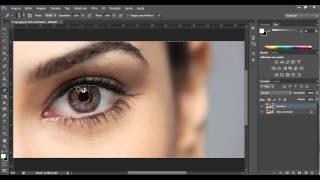 Como mudar a cor dos olhos com Photoshop CS6 (Tutorial Photoshop CS6 Português)
