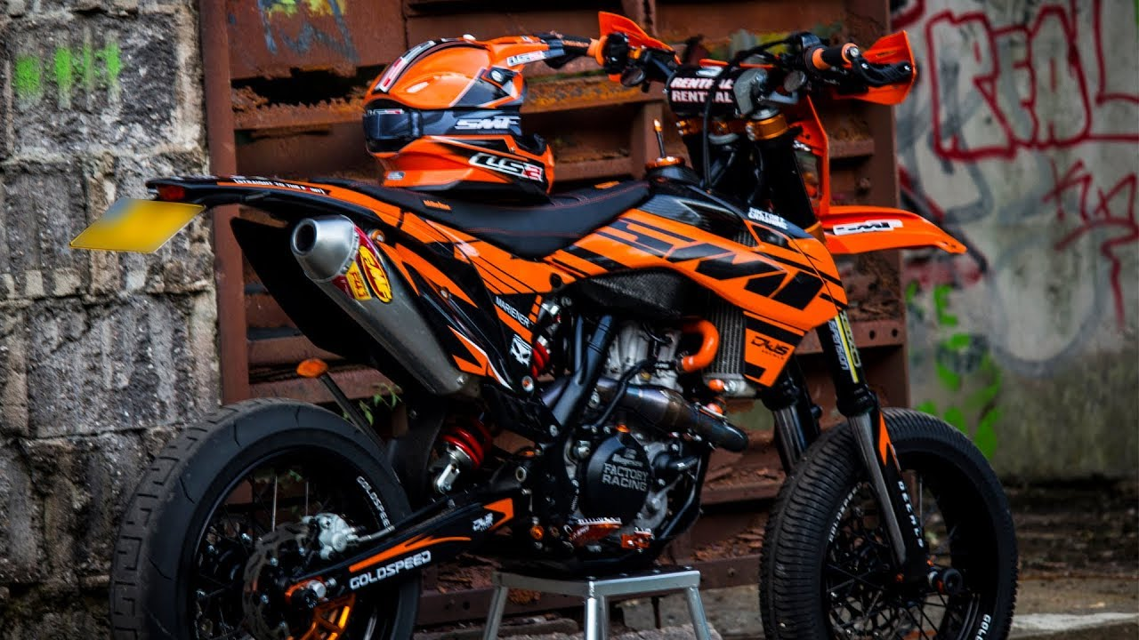 the ktm exc500 is finished episode 10 supermoto build. Black Bedroom Furniture Sets. Home Design Ideas