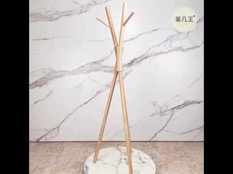 全實木 白臘木 衣帽架 樹木造型 原木色 北歐風 淺色系