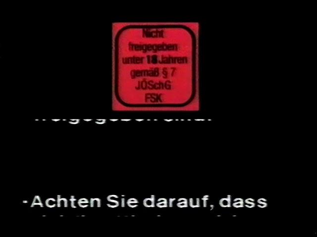 FSK 18 / deutscher Video Vorspann / FSK 18 Ansage (Standartansage)