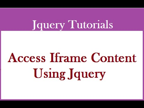 How To Access Contents Of An Iframe In Jquery/Javascript