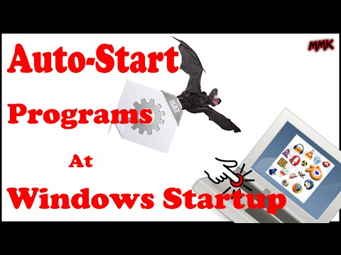 How to auto start any website or program at windows startup
