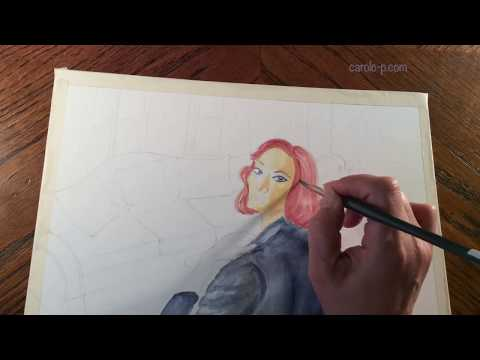 Art with Movie #2 -- Crooked House -- Watercolor Painting (time lapse