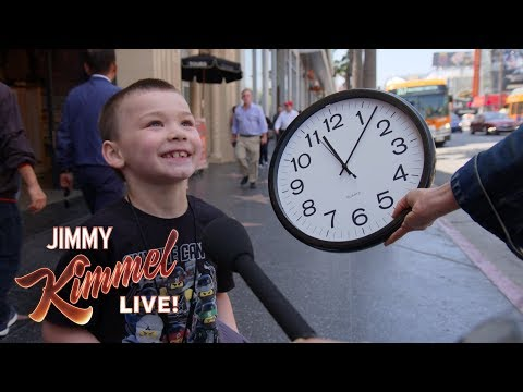 Aly - Can Young People Read A Clock? Jimmy Kimmel Finds Out