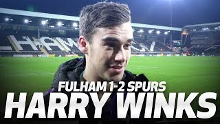HARRY WINKS ON LAST MINUTE FULHAM WINNER! | INTERVIEW | Fulham 1-2 Spurs