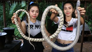 How to cook soup snake recipe in my village