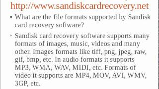 SanDisk Card Recovery