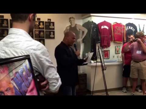 Kurt angle inducted to the national wrestling hall of fame
