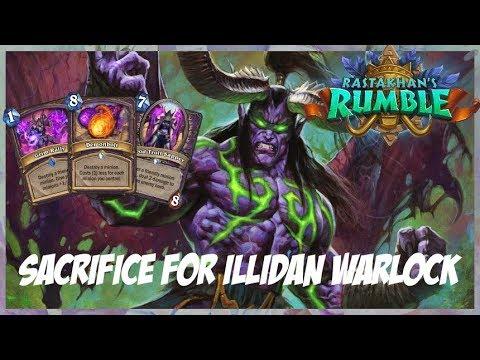 Sacrifice for Illidan Warlock | Surviving Standard 139 | Hearthstone | Rastakhan's Rumble