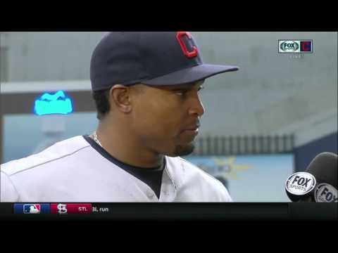 Cleveland Indians outfielder Marlon Byrd after his first big game as a member of the Tribe