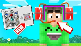 MINECRAFT But We CRAFTED WEIRD ITEMS! (Dumb)