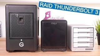 Comparatif RAID Thunderbolt 3 : Drobo 5D3 Vs CalDigit T4 vs G-SPEED Shuttle