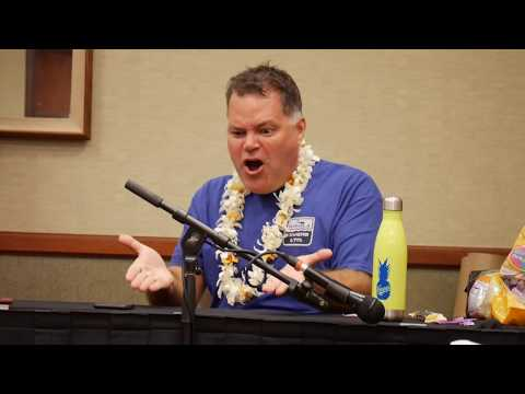 Aaron Douglas calls a NASA scientist  HawaiiCon 2017