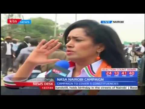 Raila Odinga leads NASA campaigns in Nairobi
