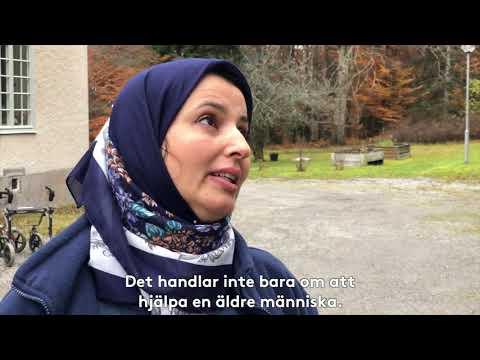 Hakima är undersköterska på Vardaga Brobygård