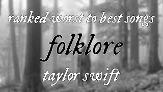 Baixar Taylor Swift - folklore - Ranked WORST to BEST songs