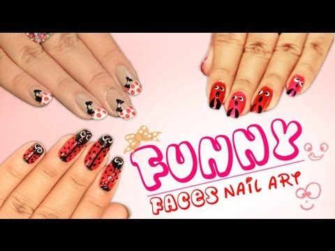 funny faces nail art design series1  do it yourself