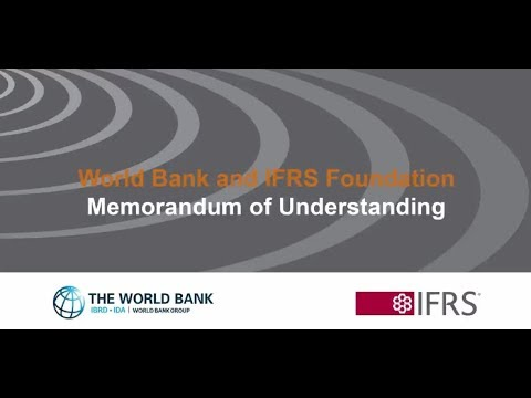The World Bank and the IFRS Foundation sign a Memorandum of Understanding