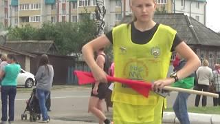 Финиш первых участников легкоатлетического пробега в Медведево