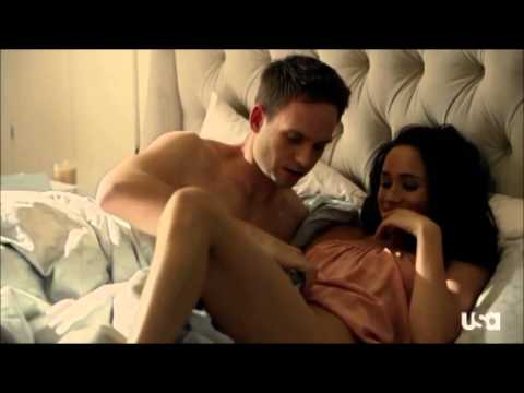 Suits 3x01 Mike & Rachel Bed Scene