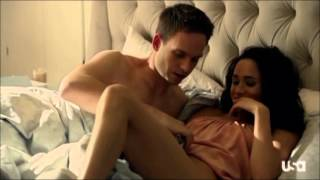 suits 3x01 mike rachel bed scene