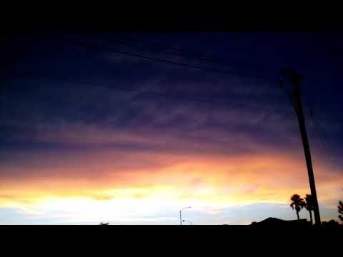 Weird midsummer hail storm in Las Vegas, southwest sky.