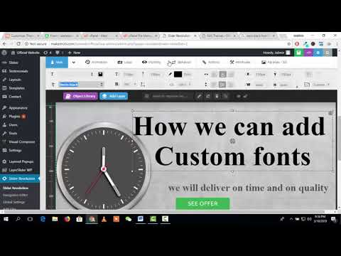 How to add and use custom font family in revolution slider and WordPress