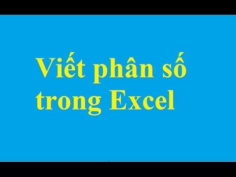 Hướng dẫn cách viết công thức phân số trong Excel – http://taimienphi.vn