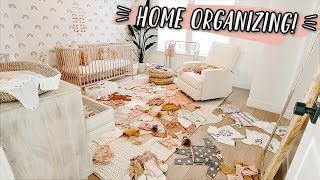 ORGANIZING BABY CLOTHES AGAIN... & HOUSE CLEANING!