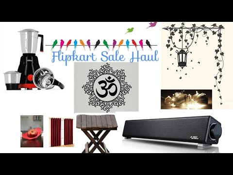 Flipkart Sale Haul | Stickers, table, speakers, curtains| Amazing discounts|