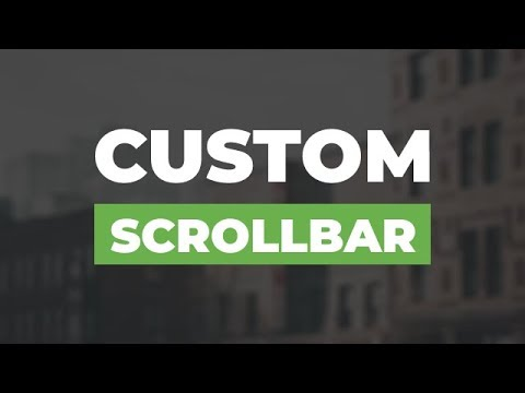 How To Customize The Scrollbar Using Only Html & Css