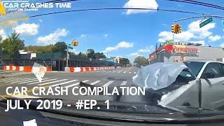 Car Crashes Compilation July 2019   Episode 1
