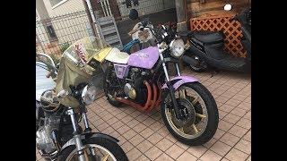 豪快サウンドを聞け パープルFX 兄弟ライダー 神戸 1979 カワサキ・Z400FX E1 旧車 1979 Kawasaki Z400FX E1 thumbnail