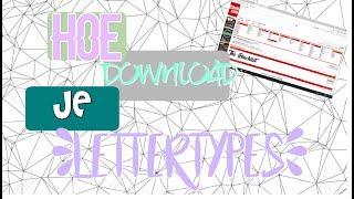 HOE DOWNLOAD JE LETTERTYPES /HD/
