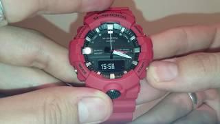 Casio G-Shock GA-800 налаштування годинника