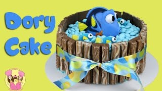 FINDING DORY KIT KAT CAKE - with m&ms and baby dory! Kids birthday cake